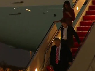 President Trump arrives in Palm Beach County