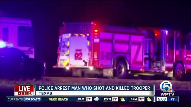 Texas trooper killed during traffic stop- suspect in custody