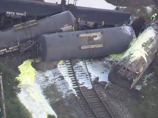 PHOTOS: Train derails in Central Florida