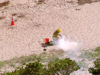 Military flare found, removed from Juno Beach