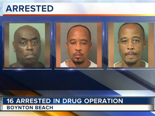 Boynton arrests 16 in year-long drug sweep