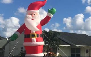 Jupiter vandals tackle 25-foot inflatable Santa