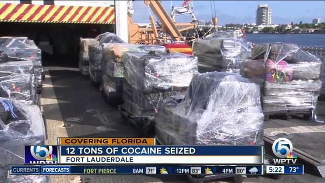 Coast Guard offloads over 12 tons of cocaine at Port Everglades