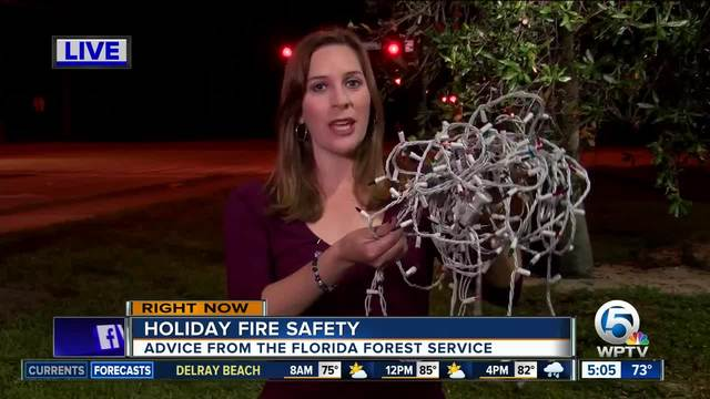 Florida Forest Service provides holiday fire safety tips