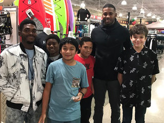 Local kids have shopping spree with NBA player