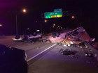 Car hauling pornographic DVDs overturns on I-95