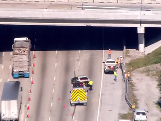 Overpass damaged on I-95 in Lake Worth