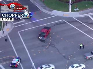 2-vehicle crash on Australian Ave. in West Palm