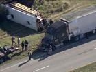 At least 8 injured in Florida school bus crash