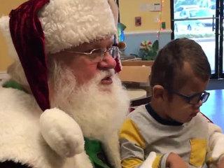 Santa visits The Arc of Palm Beach County