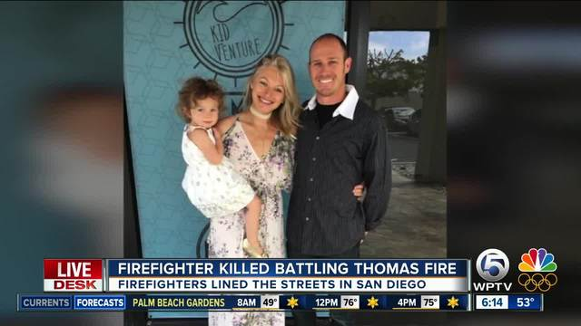 32-year-old firefighter killed battling huge California wildfire
