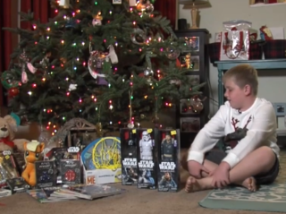 Boy gives back for holidays