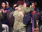 FAU graduate surprised by Army husband on stage