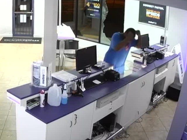 Lantana Police Are Searching For A Person Who Broke Into Metro Pcs