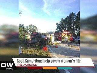 Good Samaritans help save a woman's life