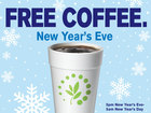 Free coffee on New Year's Eve and Day