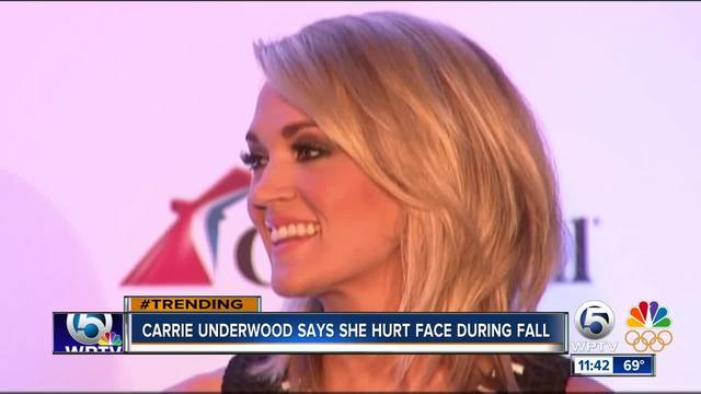 Carrie Underwood reveals she also injured her face in home accident
