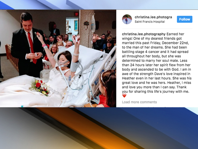 Woman battling breast cancer dies hours after hospital wedding