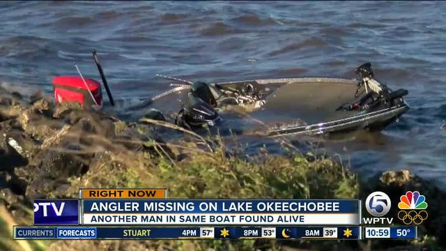 one fisherman found alive another still missing on lake okeechobee