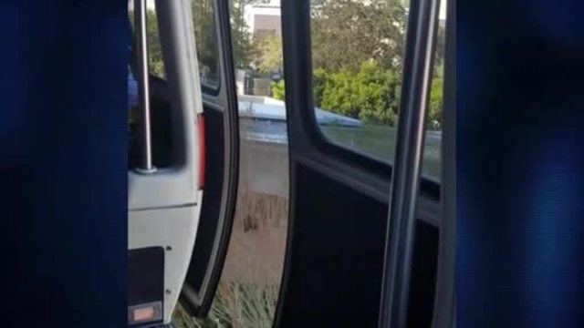Video shows monorail driving with doors open at Walt Disney World