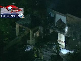 House damaged by fire near Delray Beach