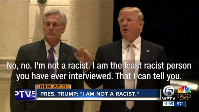 'I'm not a racist,' says Trump