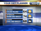Cold inland, chilly along the coast this morning