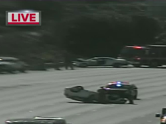 Rollover crash causes delays on I-95 NB