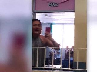 VIDEO: Kids celebrate power back on at PR school