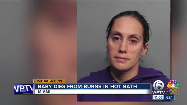 Miami mom charged after baby dies from hot bath