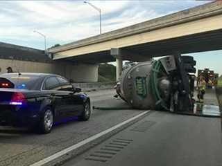 Truck rollover causes Turnpike delays