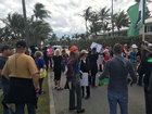 Protesters and supporters gather near Mar-a-Lago