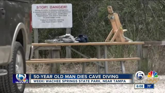 Man dies while cave diving near Tampa