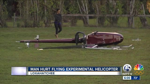 Pilot injured in experimental helicopter crash