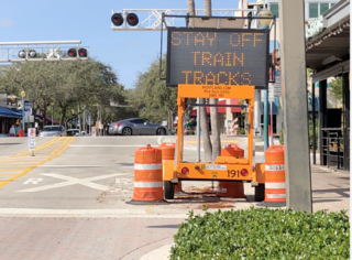 Brightline rolls out digital warning signs