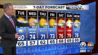 Warm, humid, and higher chances for rainfall