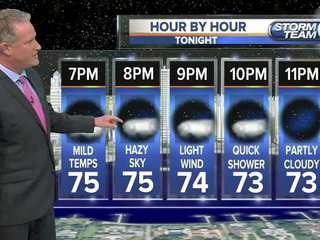Mild tonight, patchy fog possible