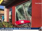 Woman, 81, crashes car into local McDonald's