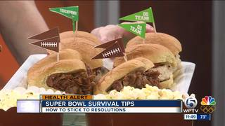 Stick to your diet during Super Bowl parties