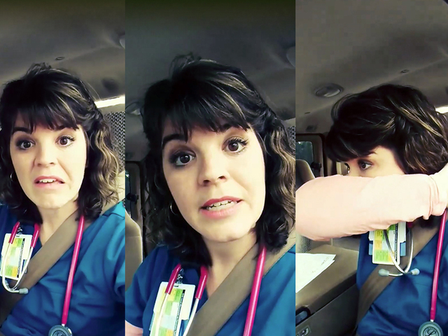 Nurse Katherine Lockler posted a video rant on Facebook about how people are handling the flu outbreak.                       Facebook