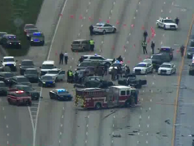 Suspected killer fatally shot by deputy on I-95 in Lantana