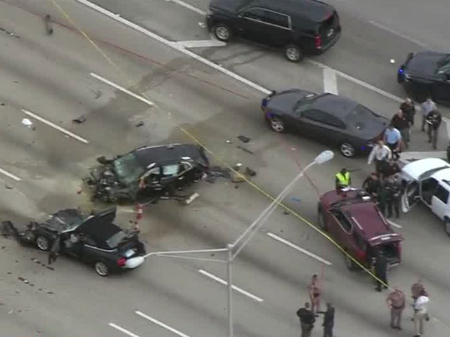 Gunfire and crashes shut down northbound Interstate 95 in Palm Beach County