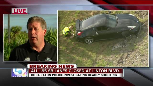 Deadly shooting closes all I-95 southbound lanes in Boca Raton