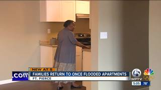 Residents return to new apartments after Irma