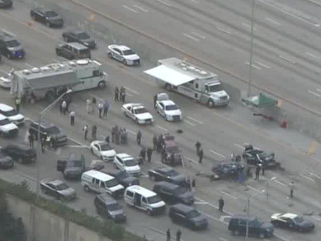 Deputy-involved shooting, crashes close I-95 in Lantana