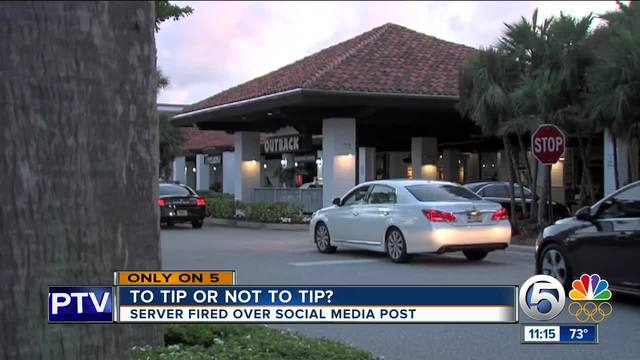 Server not tipped by Florida mega church, posts on Facebook, gets fired