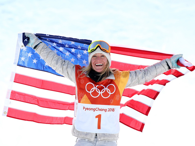Jamie Anderson Wins Gold Medal for Snowboarding Slopestyle at Olympics 2018