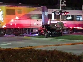Brightline train collides with vehicle in Boca