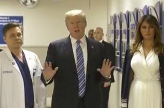 President Trump, Melania visit shooting victims