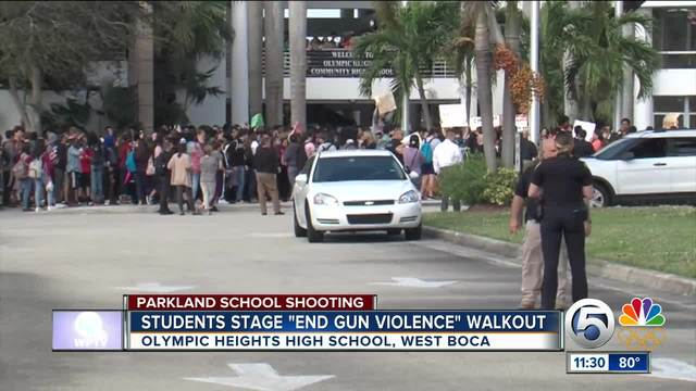 Hear from local students on Wednesday's walkouts